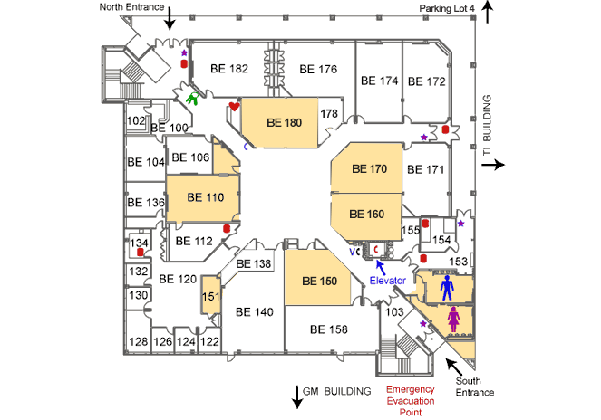 Business Education Building first floor map