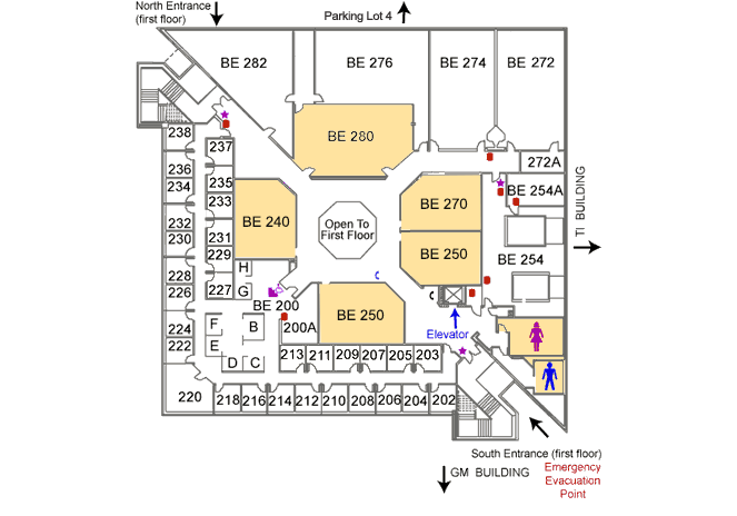 Business Education Building second floor map