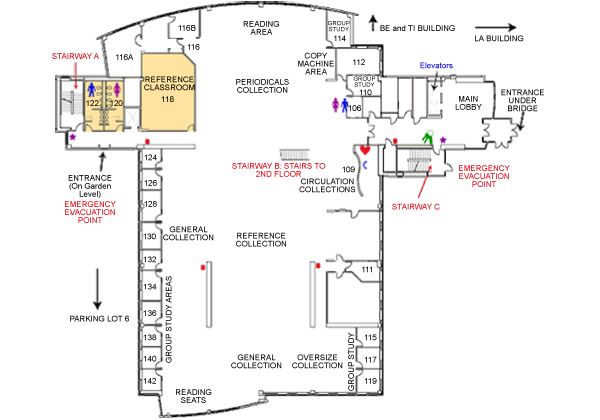 Gunder Myran Building first floor map