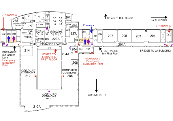 Gunder Myran Building second floor map