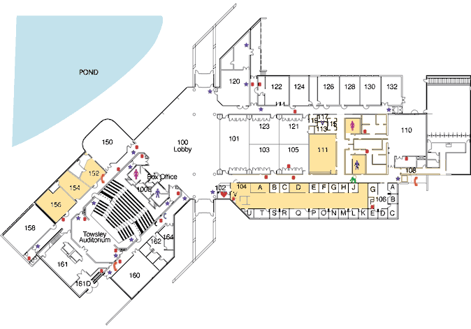 Morris J. Lawrence Building first floor map