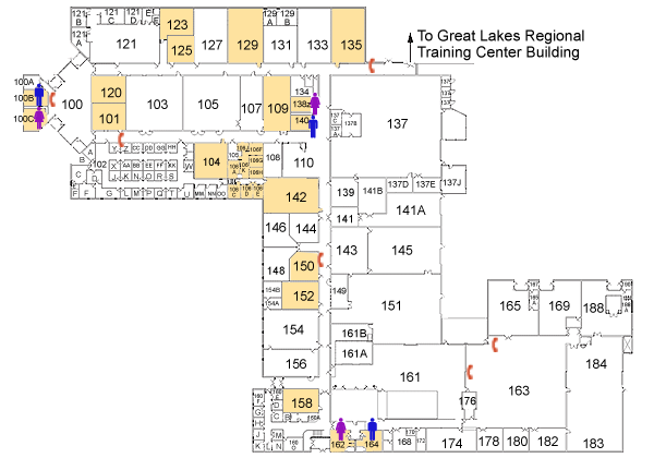 Occupational Education Building first floor map