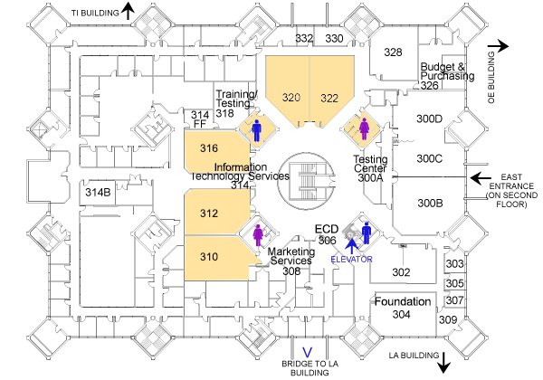 Student Center Building third floor map