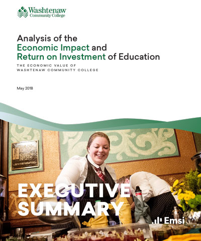 analysis of the economical impact and ROI of education flyer