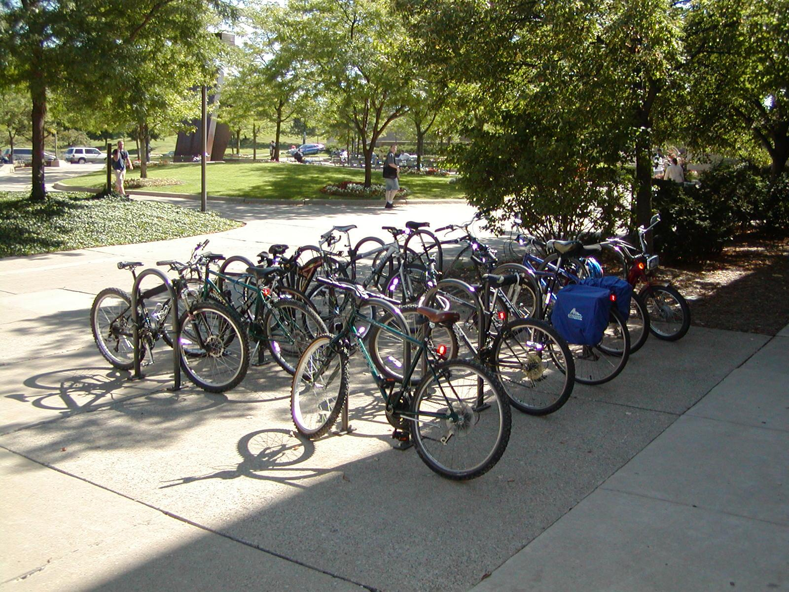 Bike rack at WCC