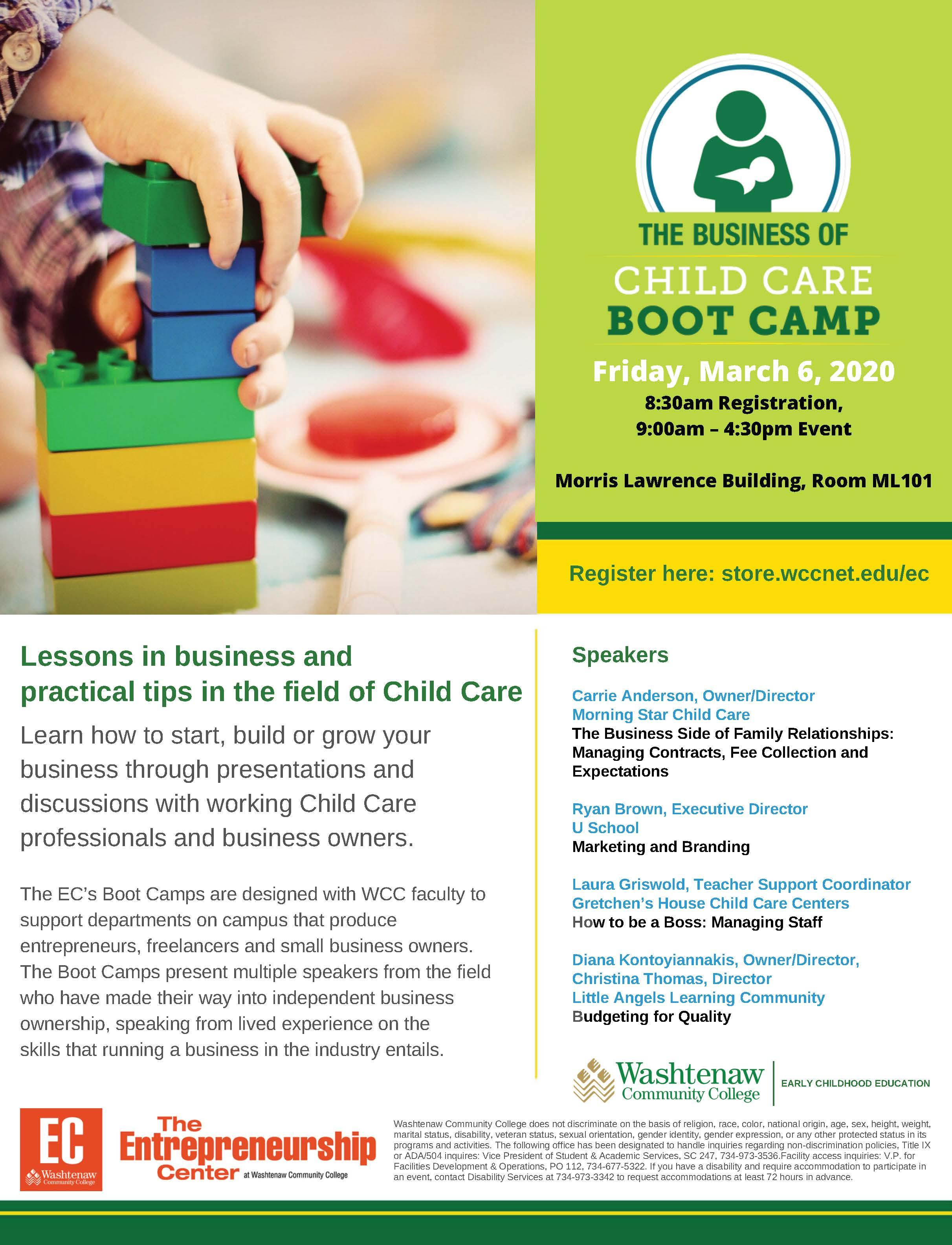 The Business of Child Care Boot Camp