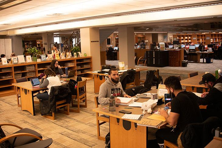 Library student spaces - study tables