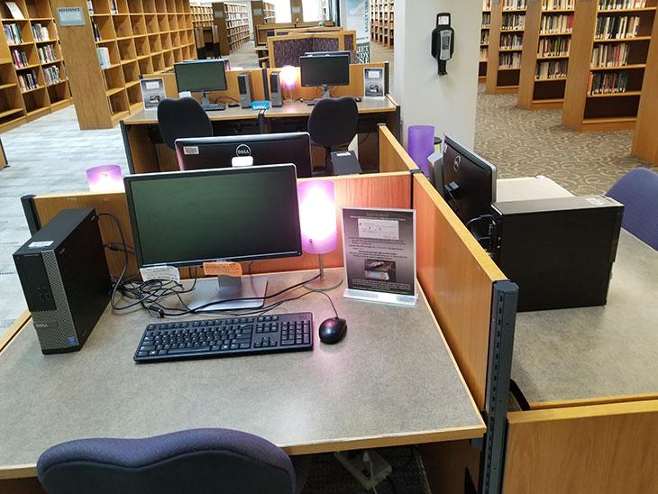 Library student spaces - computer pods