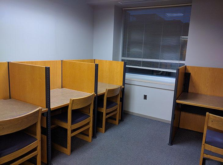 Library student spaces - study pods