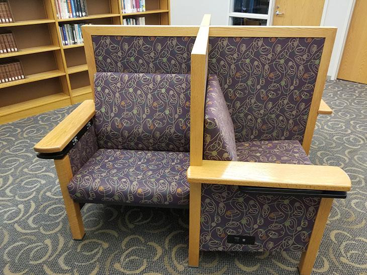 Library student spaces - chair pods