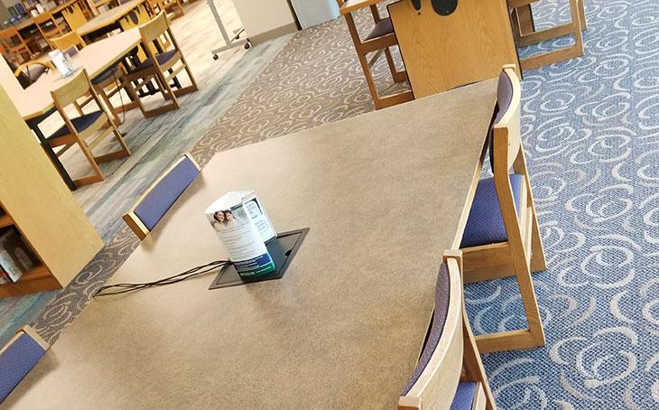 Library student spaces - group tables