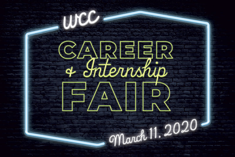 Career Fair neon sign