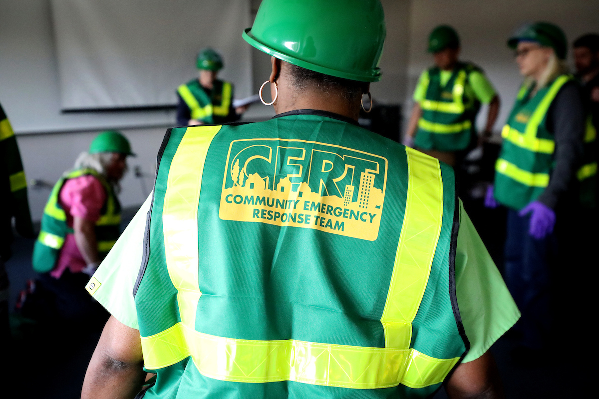 Employee in CERT vest