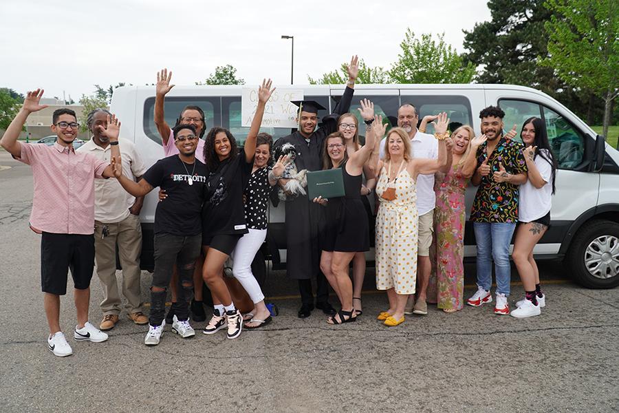 Jordan Randall's family and friends