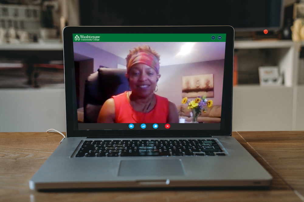 Counselor on videoconference