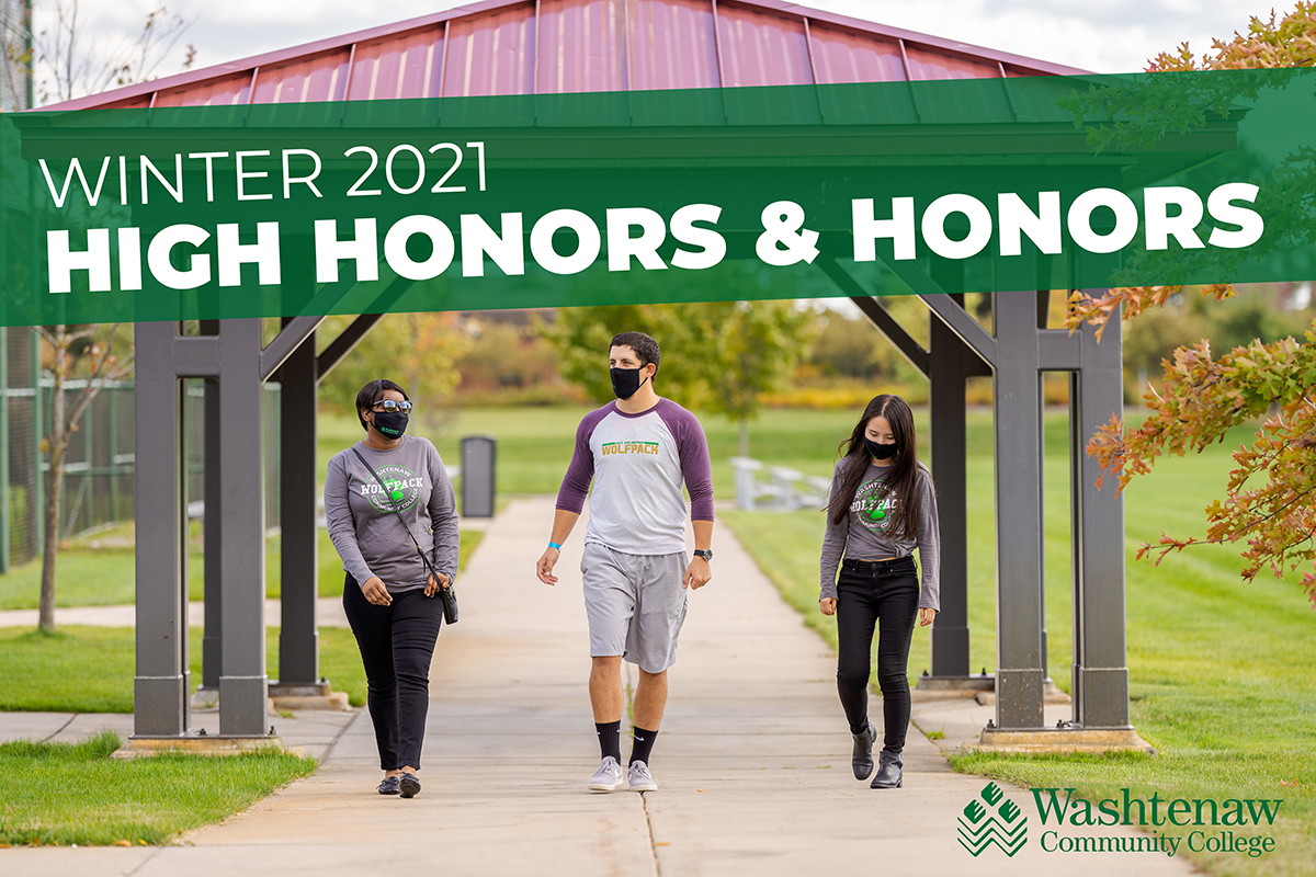Winter 2021 High Honors and Honors Students
