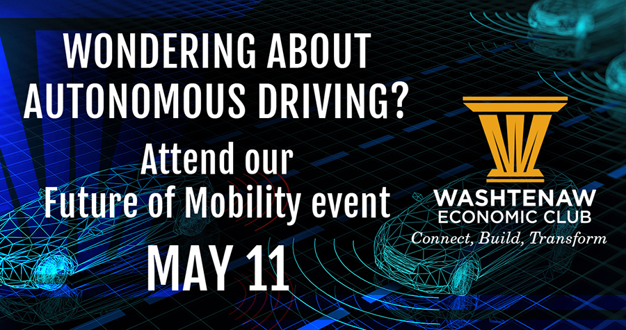 'Future of Mobility' focus of Washtenaw Economic Club event on May 11