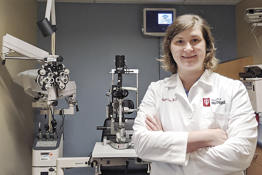 Dr. Allison Kade Fox, an ophthalmology resident at the University of Indiana School of Medicine, turned to Washtenaw Community College to prepare her for medical school.