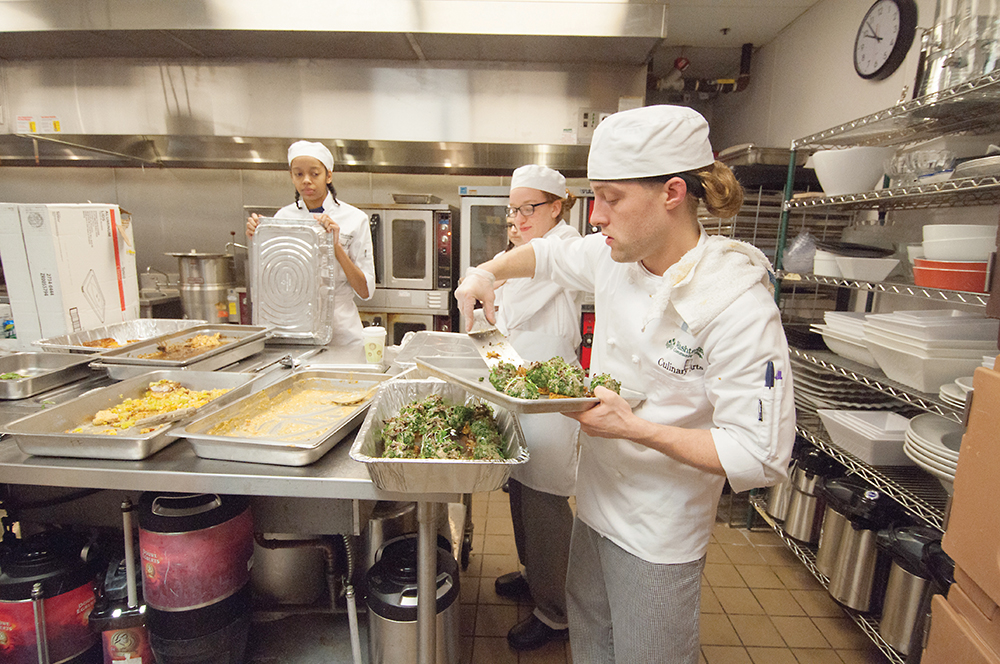 Sixty WCC Culinary Arts students helped college faculty members and seven guest chefs prepare a scrumptious meal. | Photo by Jessica Bibbee